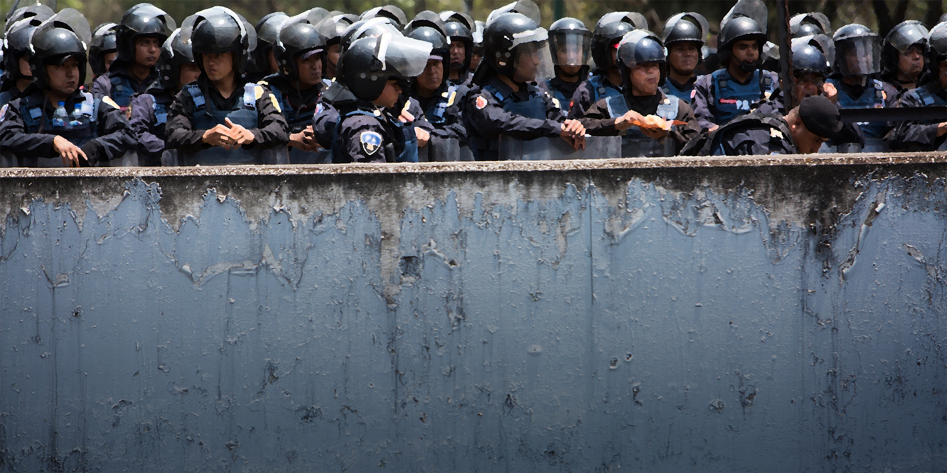 Police officers in Mexico City