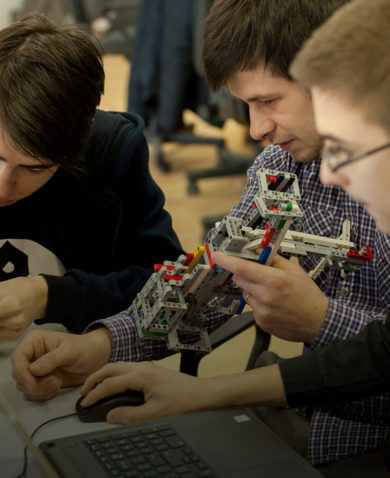 Youth study robotics