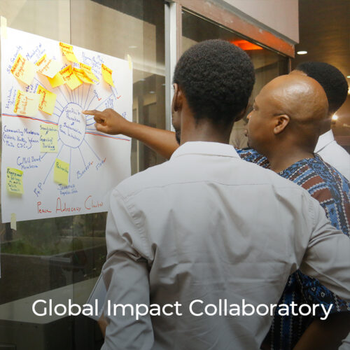 The Global Impact Collaboratory convenes social scientists with experienced development practitioners to design, test, and share scientifically robust monitoring, evaluation, and learning strategies for communicating development impact.