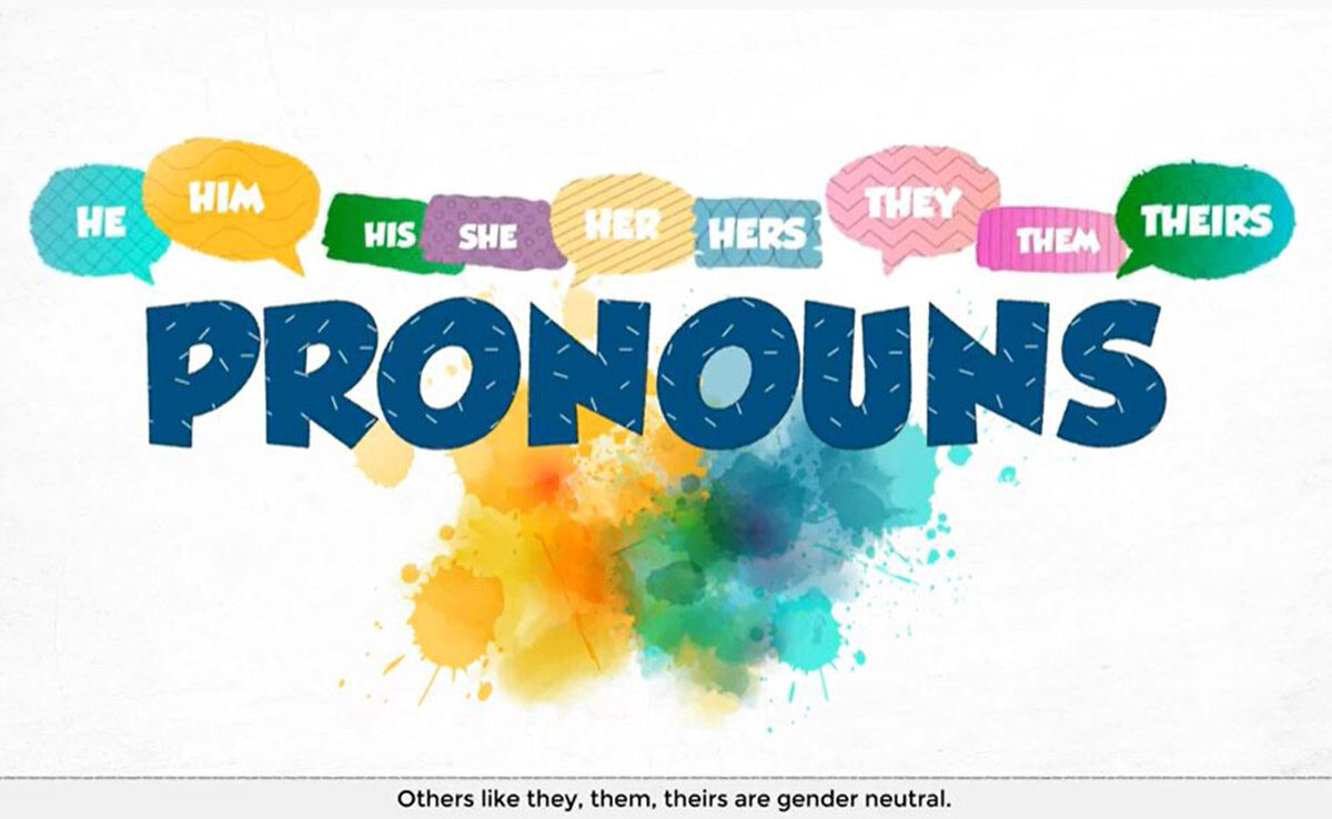 Animation of pronouns