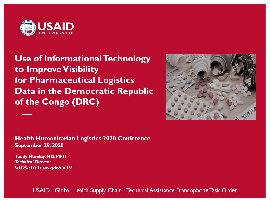 Use of Informational Technology to Improve Visibility for Pharmaceutical Logistics