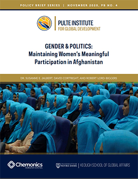Gender and Politics: Maintaining Women's Peaceful Participation in Afghanistan Policy Brief Thumbnail
