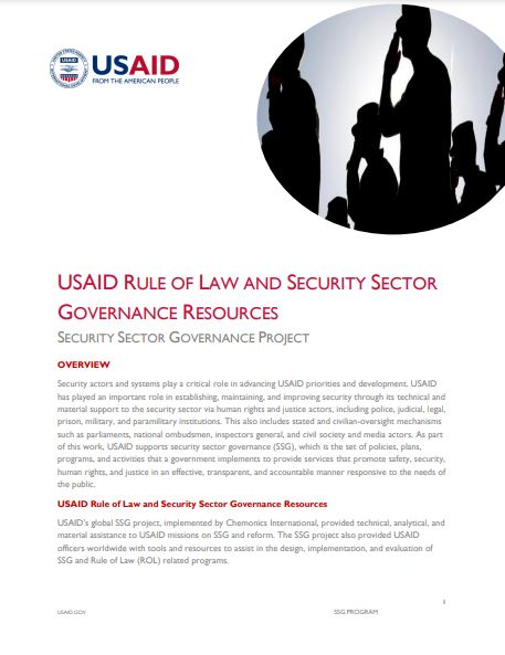 Rule of Law and Security Sector Governance Resources cover page