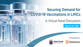 Banner for Securing Demand for Vaccinations Webinar